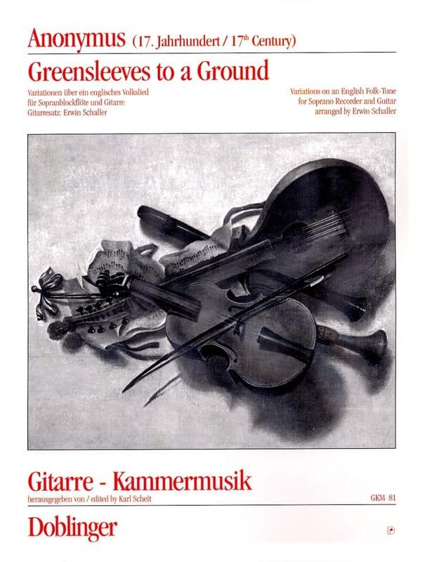 Greensleeves to a ground - Fl. à Bec Soprano et Guitare - laflutedepan.com