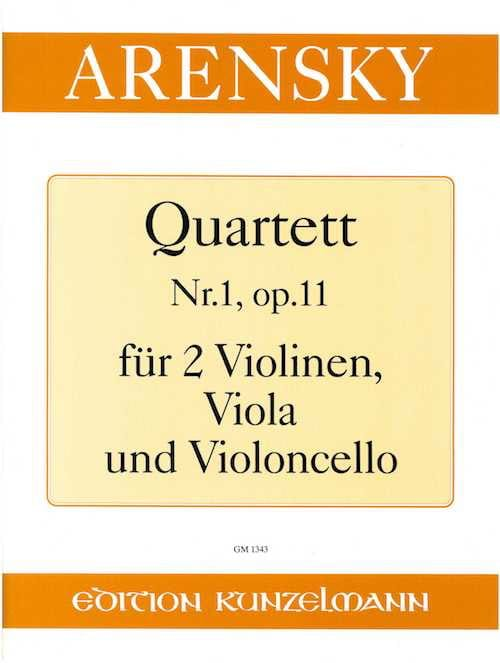 Quartett Nr. 1 op. 11 - Anton Stepanovitch Arensky - laflutedepan.com