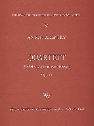 Anton Stepanovitch Arensky - Quartett a-moll op. 35 - Violine, Viola, 2 Violoncelli - Partition - di-arezzo.com
