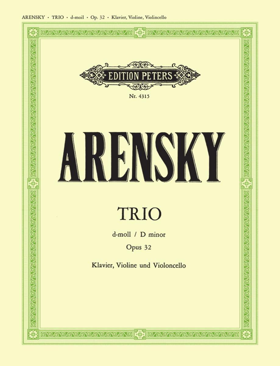 Anton Stepanovitch Arensky - Trio d-moll op. 32 - parts - Partition - di-arezzo.co.uk