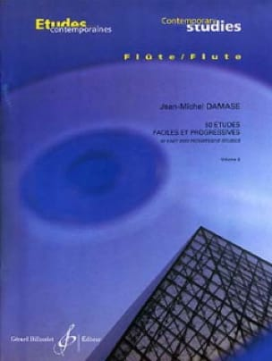 Jean-Michel Damase - 50 Easy studies and progr. - Volume 2 - Partition - di-arezzo.com