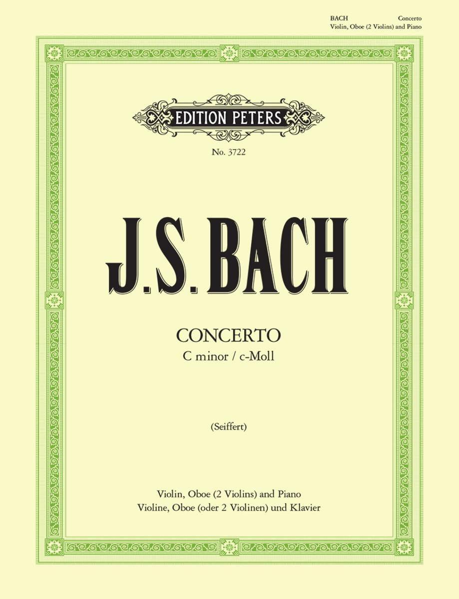 BACH - Concerto c-moll BWV 1060 - Violin Oboe Klavier - Partition - di-arezzo.com