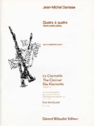 Quatre à quatre - Jean-Michel Damase - Partition - laflutedepan.com