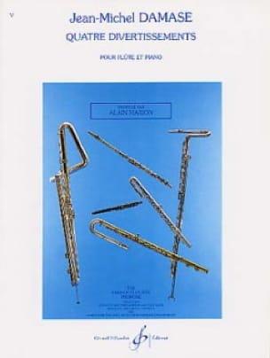 Quatre divertissements - Flûte piano - laflutedepan.com