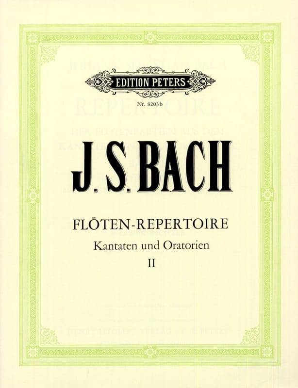 BACH - Flöten-Repertoire - Bd. 2 - Partition - di-arezzo.co.uk