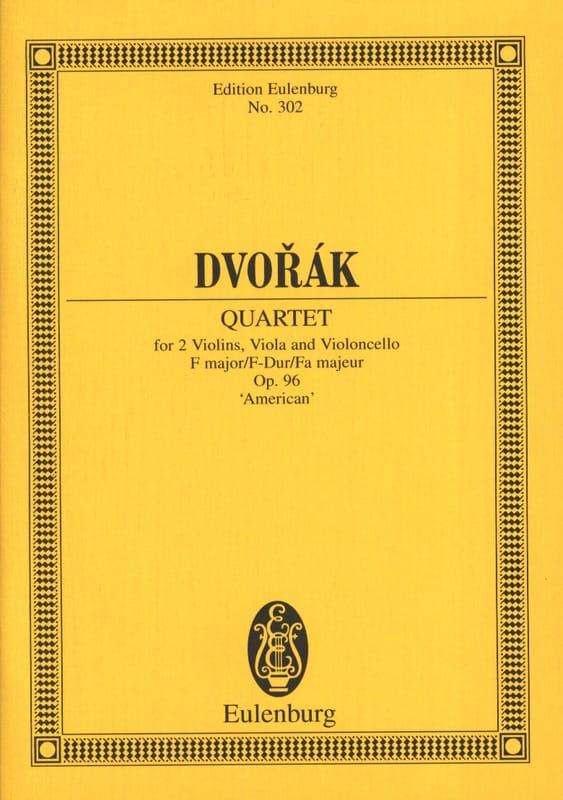 DVORAK - Streichquartett F-Dur, op. 96 B 179 - Partitur - Partition - di-arezzo.fr