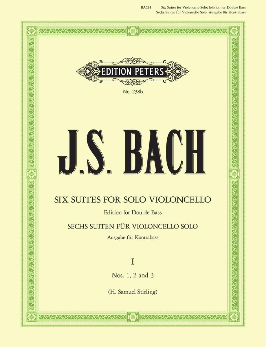 BACH - 6 Suites transcribed for Double bass volume 1 - Partition - di-arezzo.co.uk
