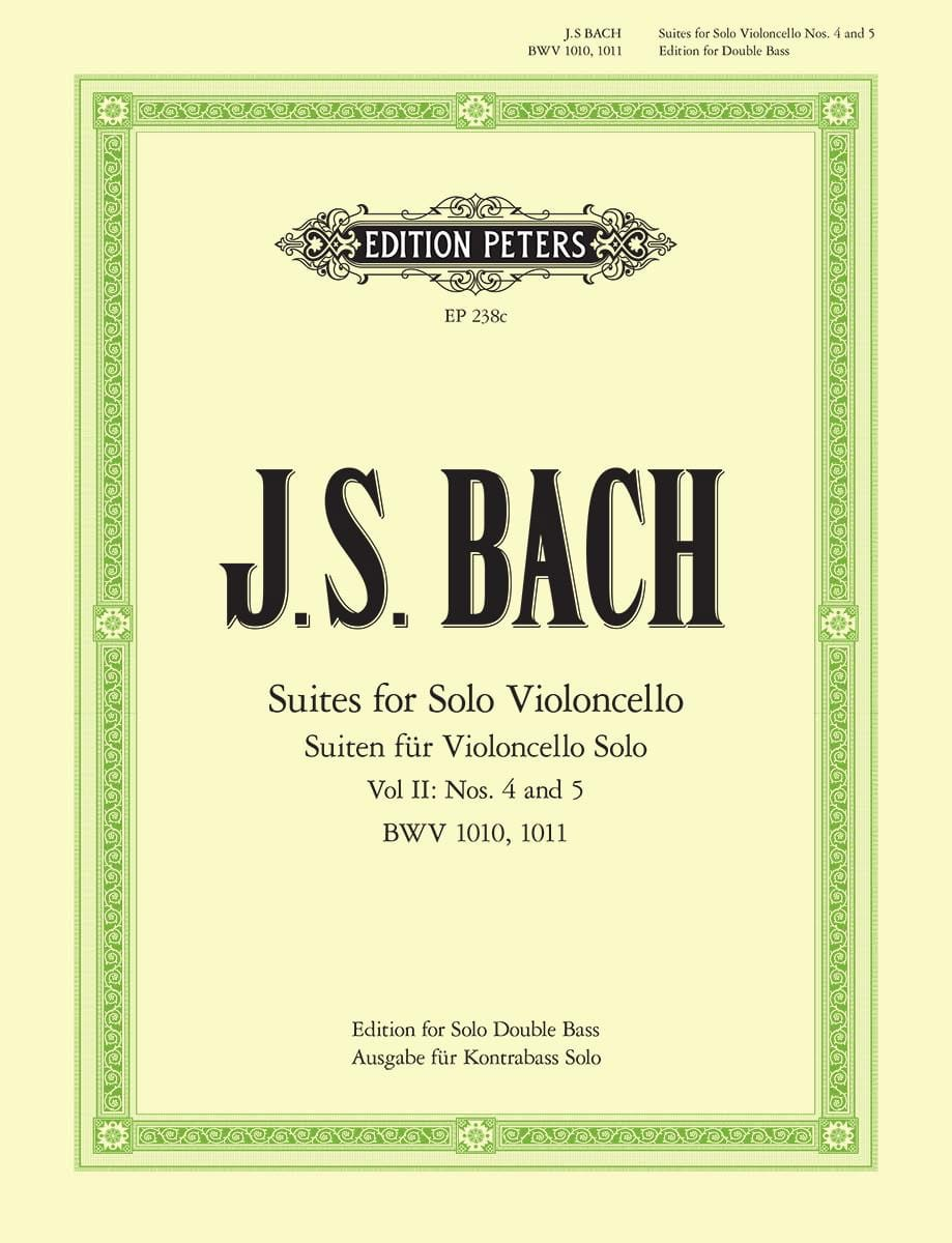 BACH - 6 Suites Volume 2 - Double bass - Partition - di-arezzo.co.uk