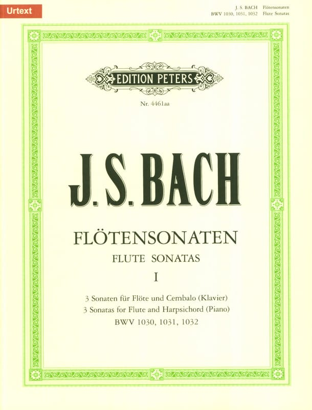 BACH - Flötensonaten - Bd. 1 BWV 1030, 1031, 1032 - Partition - di-arezzo.co.uk