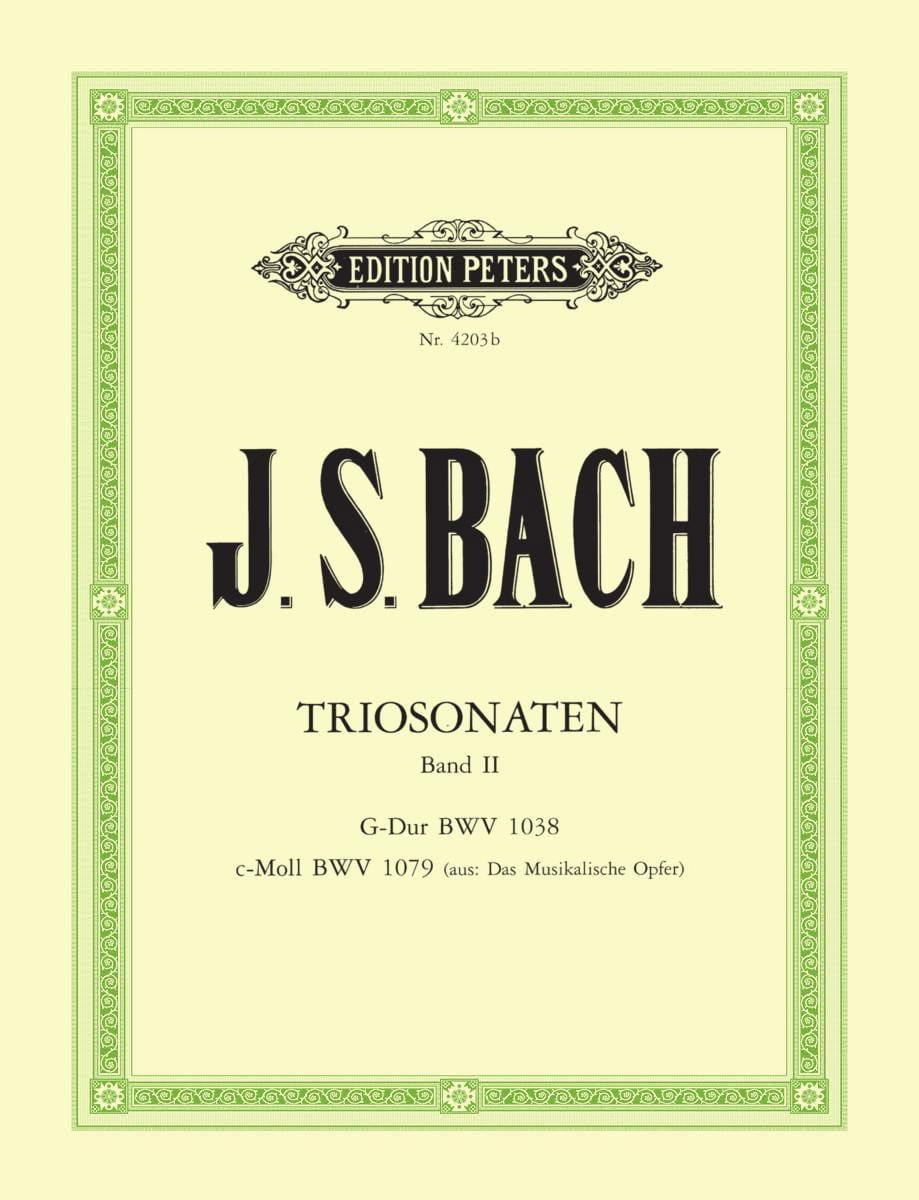 BACH - Triosonaten - Bd. 2: G-Dur BWV 1038 - c-moll BWV 1079 - Partition - di-arezzo.co.uk