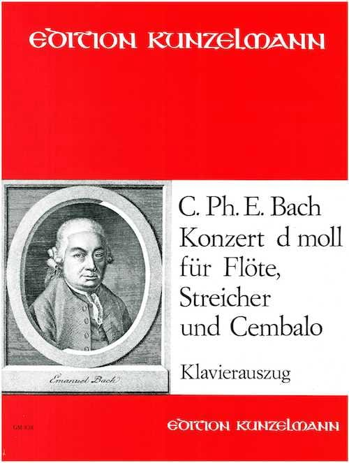 Carl Philipp Emanuel Bach - Concerto For Flute In D Minor - Partition - di-arezzo.com