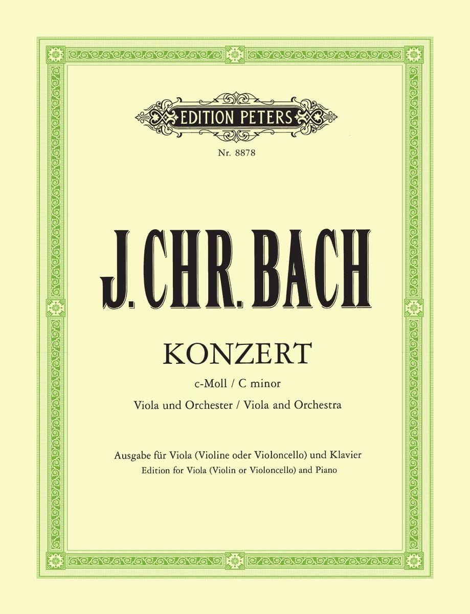Johann Christian Bach - Concerto in C minor - Alto - Partition - di-arezzo.co.uk