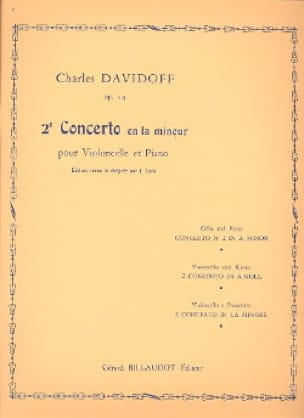Charles Davidoff - Concerto N ° 2 Op. 14 in the Minor - Partition - di-arezzo.co.uk