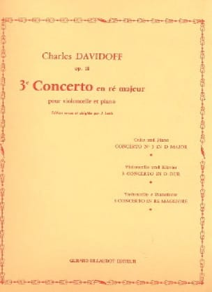 Charles Davidoff - Concerto No. 3 op.18 in D major - Partition - di-arezzo.co.uk