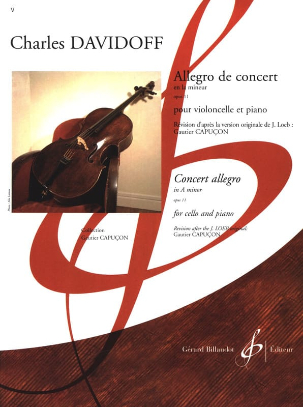 Charles Davidoff - Allegro of Concert op. 11 - Partition - di-arezzo.co.uk