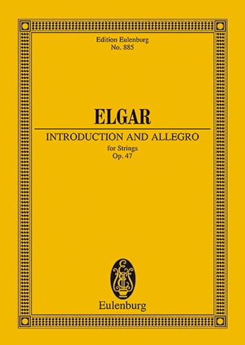ELGAR - Introduktion und Allegro - Partition - di-arezzo.com