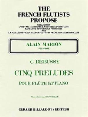 5 Préludes - DEBUSSY - Partition - laflutedepan.com