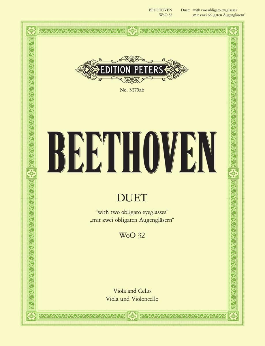 BEETHOVEN - Duet WoO 32 - Partition - di-arezzo.co.uk
