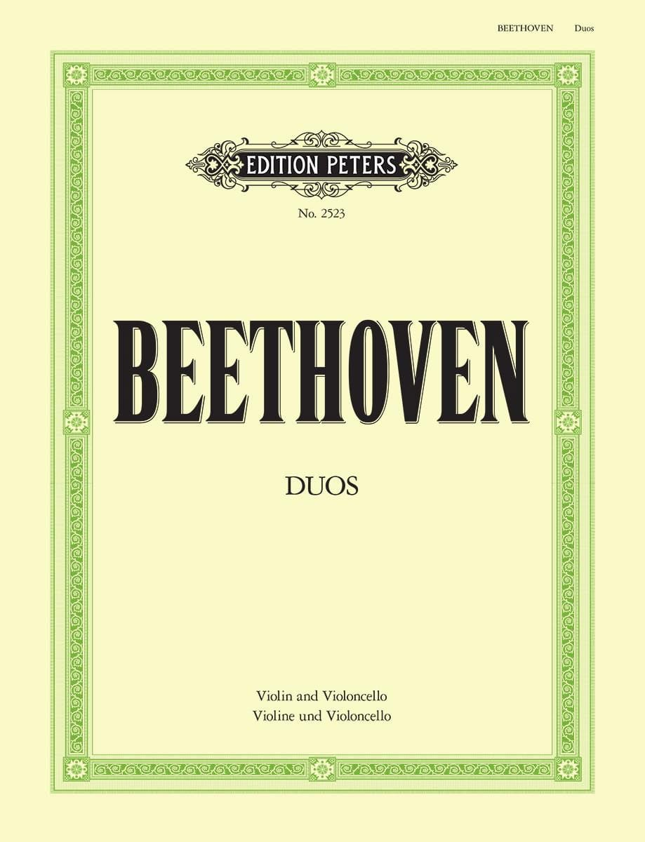BEETHOVEN - Duos - Violin Cello - Partition - di-arezzo.co.uk