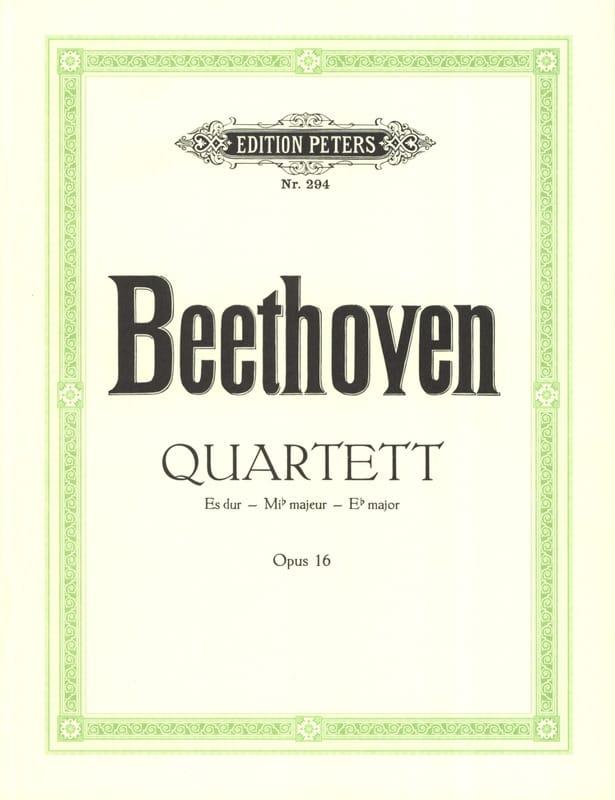 BEETHOVEN - Quartett Es-Dur op. 16 - Stimmen - Partition - di-arezzo.co.uk