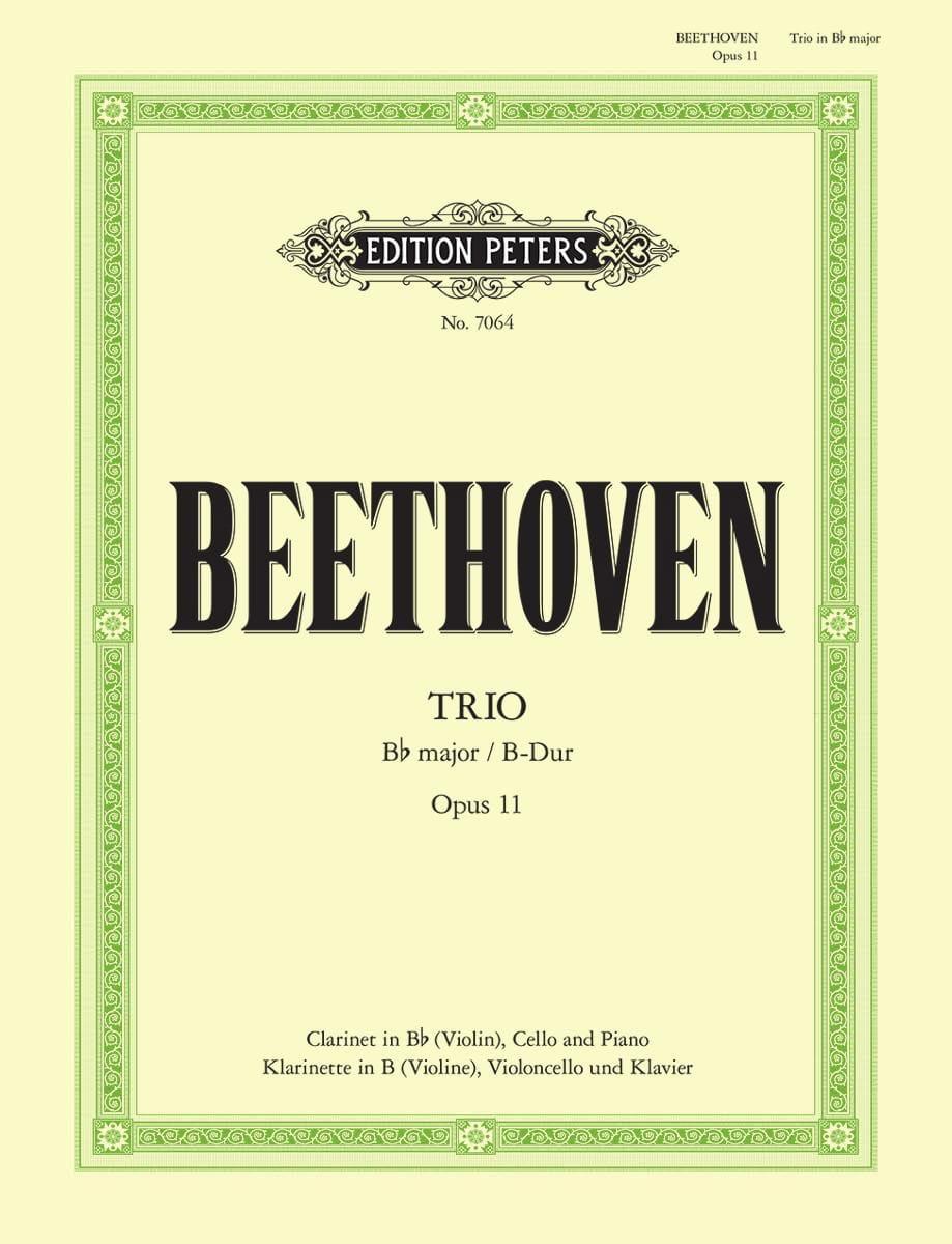 BEETHOVEN - Trio in B-Dur op. 11 - Klarinette Violine Cello Klavier - Partition - di-arezzo.co.uk