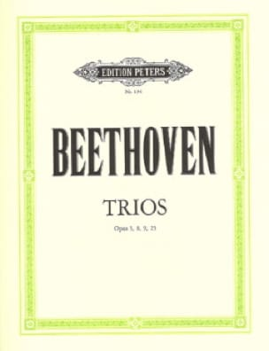 BEETHOVEN - Trios op. 3, 8, 9, 25 - Stimmen - Partition - di-arezzo.co.uk