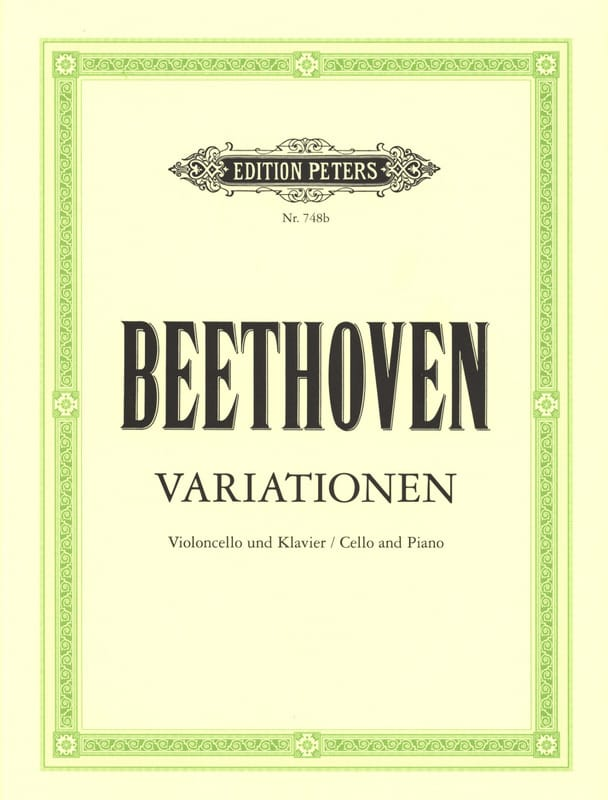 BEETHOVEN - Variationen - Cello Klavier - Partition - di-arezzo.fr