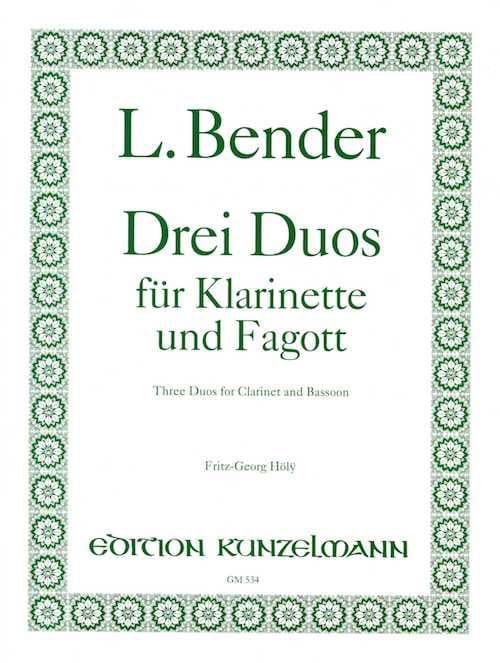 3 Duos - Klarinette und Fagott - L. Bender - laflutedepan.com