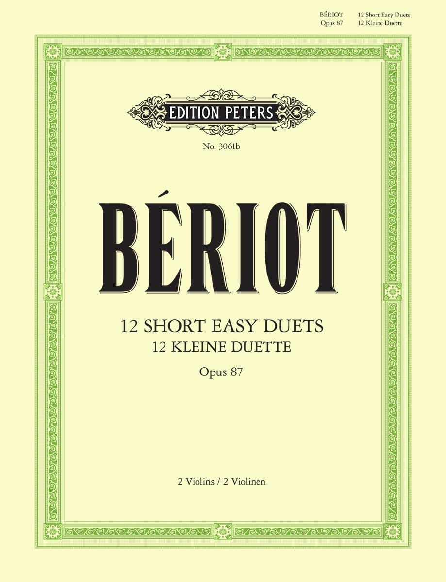 BÉRIOT - 12 Short easy duets op. 87 - Partition - di-arezzo.fr