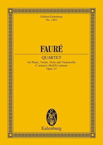 Gabriel Fauré - Klavier-Quartett N ° 1 - Driver - Partition - di-arezzo.co.uk