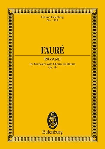 Gabriel Fauré - Pavane, op. 50 - Partition - di-arezzo.co.uk