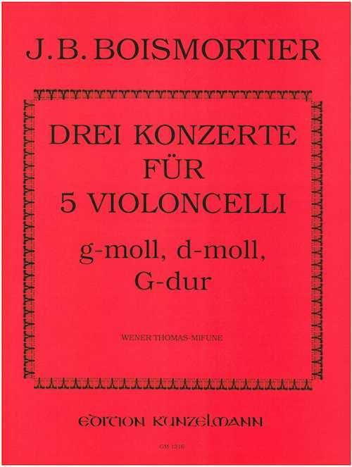 3 Concertos pour 5 Violoncelles - BOISMORTIER - laflutedepan.com