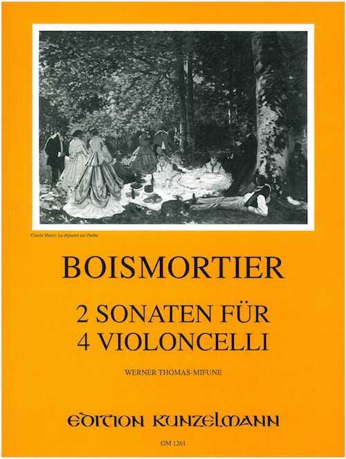 BOISMORTIER - 2 Sonatas for 4 cellos op. 34/3 - Partition - di-arezzo.com