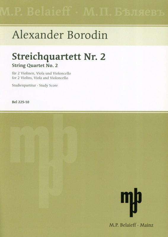 Alexandre Borodine - Streichquartett Nr. 2 D-Dur - Partitur - Partition - di-arezzo.co.uk