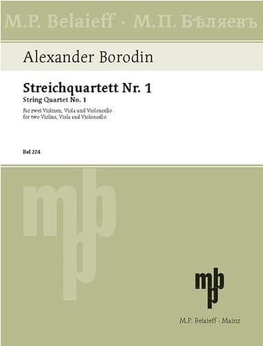 Alexandre Borodine - Streichquartett Nr.1 A-Dur - Stimmen - Partition - di-arezzo.co.uk