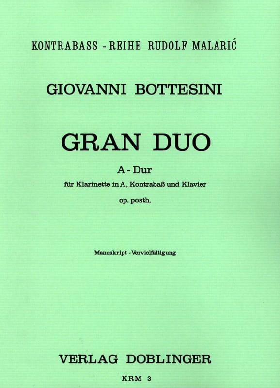 Gran Duo A-Dur - Klarinette in A Kontrabass Klavier - laflutedepan.com