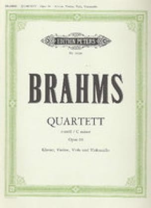 BRAHMS - Klavierquartett c-moll op. 60 - Partition - di-arezzo.com