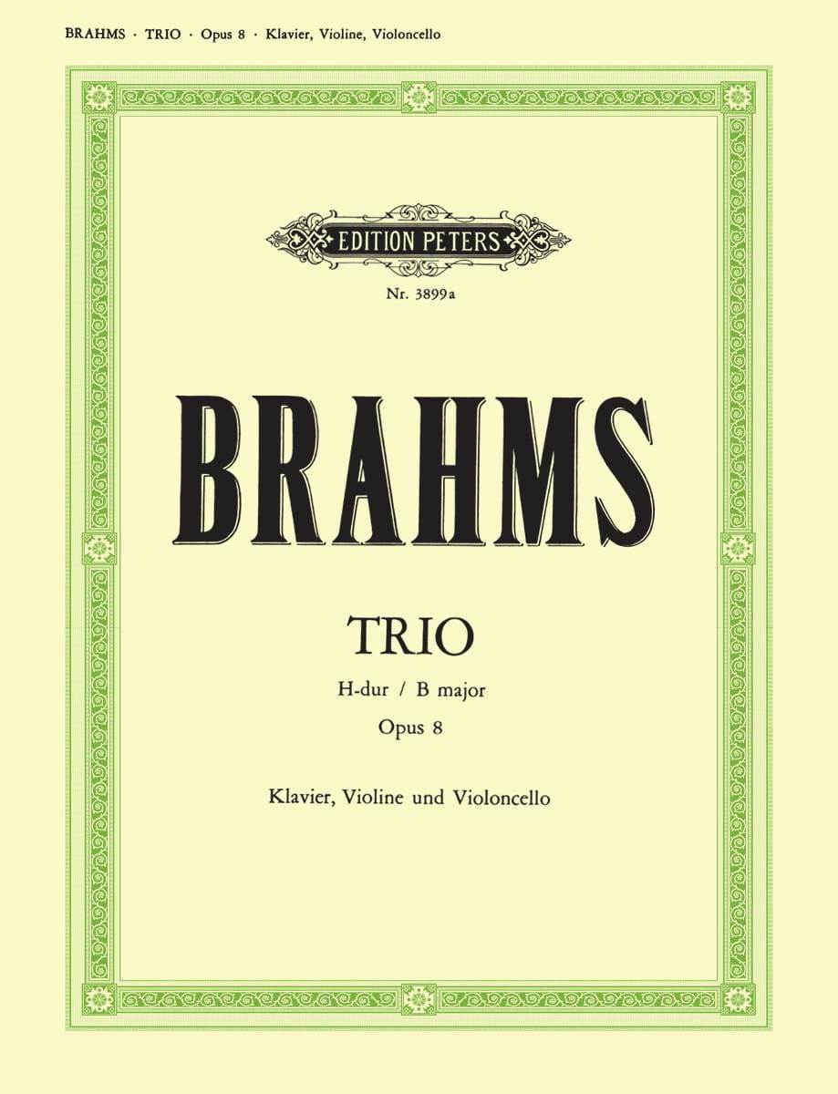 BRAHMS - Klaviertrio H-Dur op. 8 - Stimmen - Partition - di-arezzo.co.uk