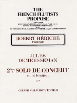 Jules Demersseman - 2nd Solo concert in mib maj. op 20 - Flute and piano - Partition - di-arezzo.co.uk
