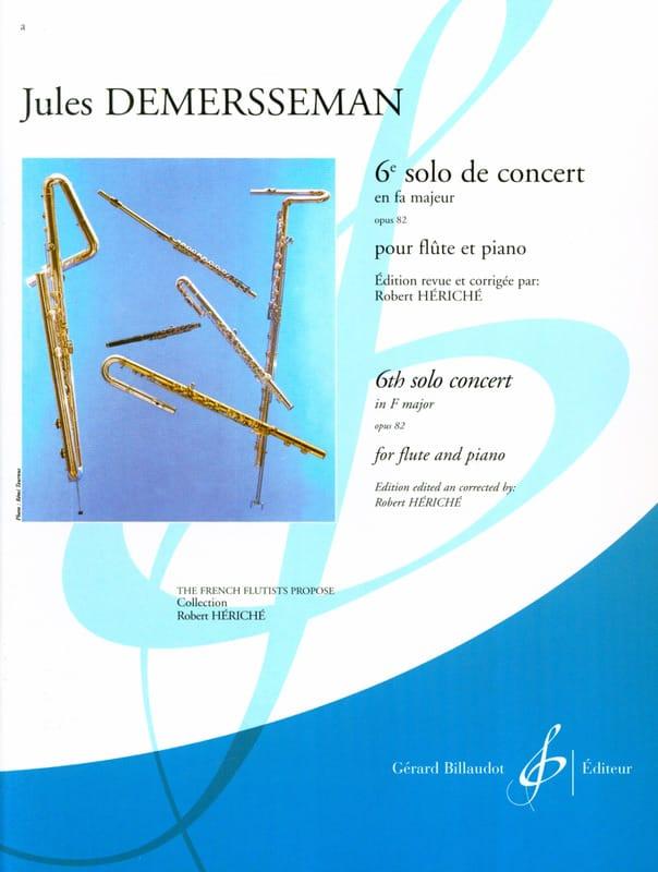 Jules Demersseman - 6th Solo concert F major op. 82 - Piano flute - Partition - di-arezzo.com