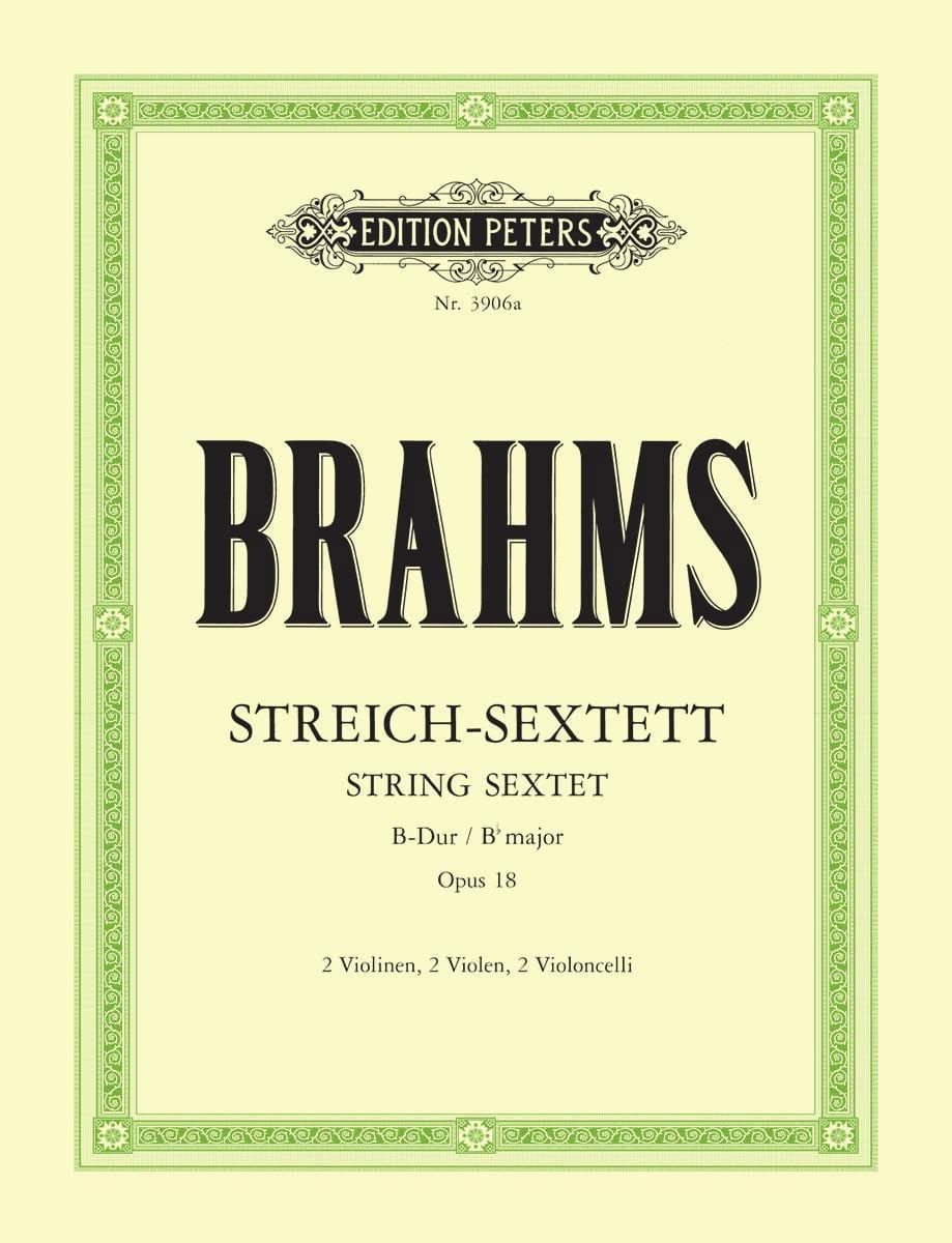 BRAHMS - Streich-Sextett B-Dur op. 18 - Stimmen - Partition - di-arezzo.co.uk