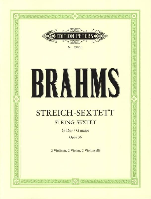 BRAHMS - Streich-Sextett G-Dur op. 36 - Stimmen - Partition - di-arezzo.com