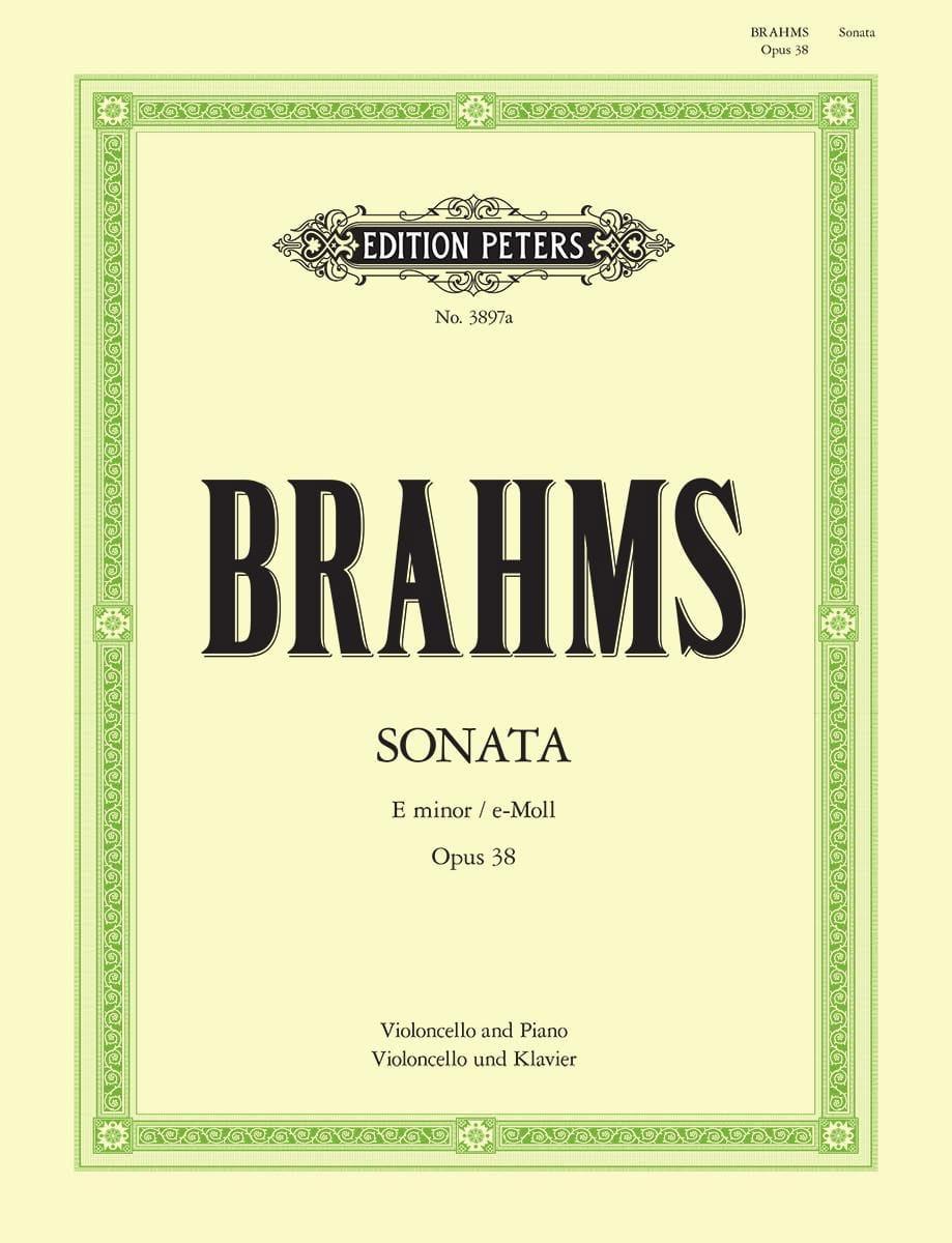 BRAHMS - Sonata en Mi Menor Op. 38 - Partition - di-arezzo.es