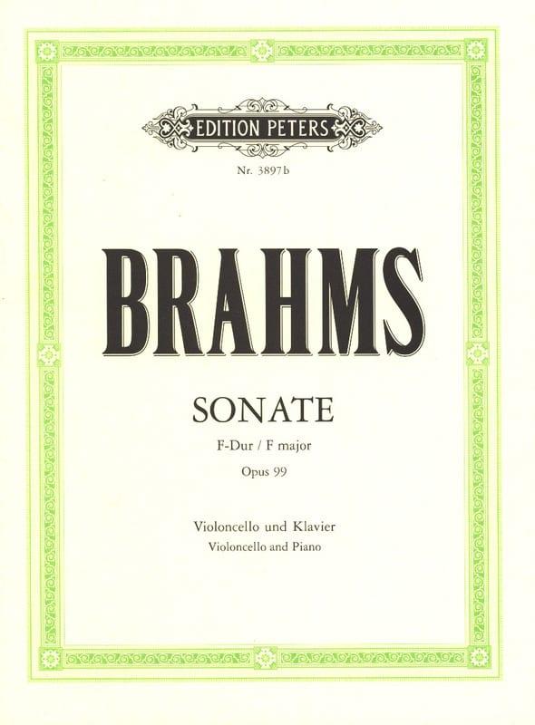 Sonate en Fa Majeur op. 99 - BRAHMS - Partition - laflutedepan.com