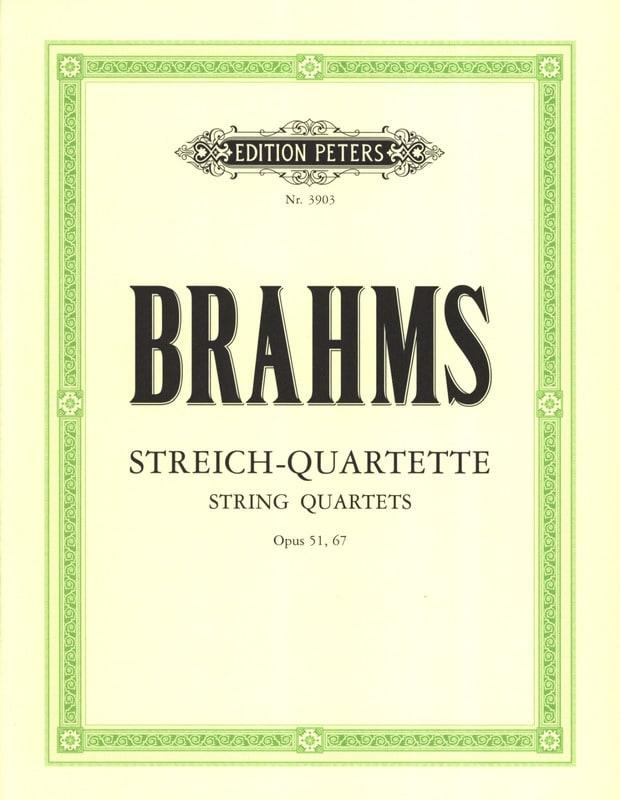 BRAHMS - Streichquartette op. 51, 67 - Stimmen - Partition - di-arezzo.co.uk