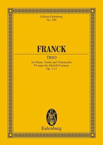 César Franck - Klavier-Trio Fis-Moll, Op. 1/1 - Partition - di-arezzo.co.uk
