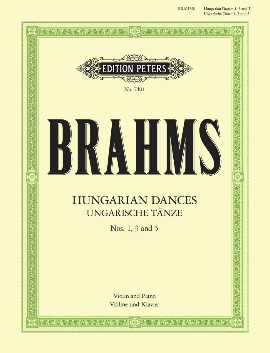 BRAHMS - Ungarische Tänze n ° 1, 3 and 5 - Partition - di-arezzo.com