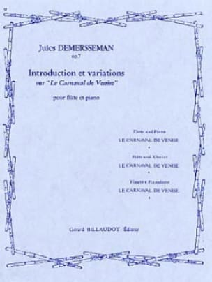 Introduction et variations sur Le Carnaval de Venise op. 7 - laflutedepan.com