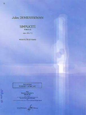 Jules Demersseman - Simplicity op. 28 n ° 2 - Partition - di-arezzo.com