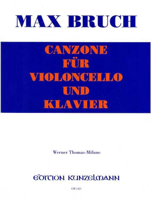 Max Bruch - Canzone - Cello - Partition - di-arezzo.co.uk